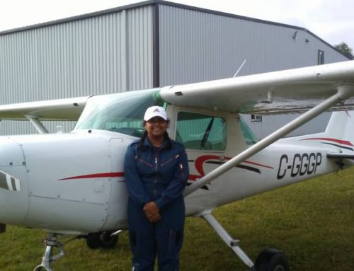 Acton Cadet Flies Solo