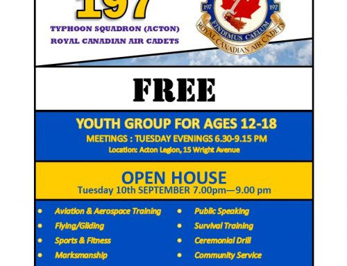 2019 Air Cadet – Recruiting Night and Open House